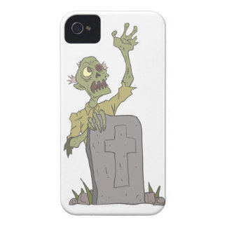 Raising From The Grave Creepy Zombie With Rotting iPhone 4 Case-Mate Case