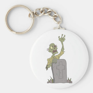Raising From The Grave Creepy Zombie With Rotting Key Ring
