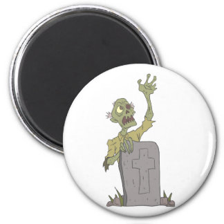 Raising From The Grave Creepy Zombie With Rotting Magnet