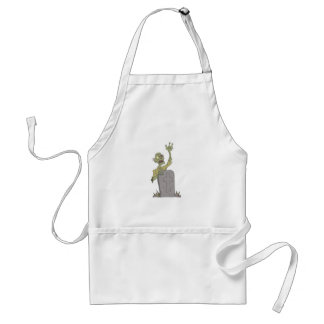 Raising From The Grave Creepy Zombie With Rotting Standard Apron