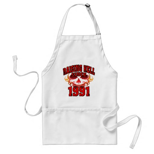 Raising Hell since 1991.png Apron