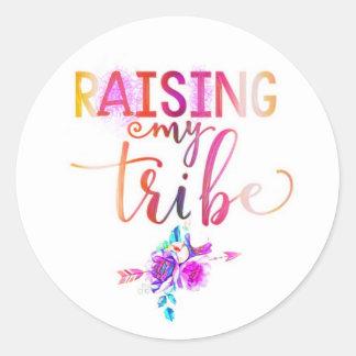 Raising my tribe classic round sticker