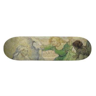 Raising of Lazarus after Rembrandt by Van Gogh Skateboard Decks