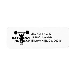 Raising The Bar Return Address Label