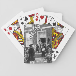 Raising the first flag at Independence_War Image Poker Deck