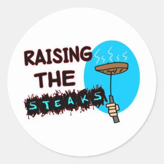 Raising The Steaks Classic Round Sticker