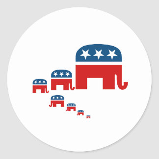 Raising them Republican Round Sticker