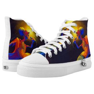 raja band Music / let's rock Printed Shoes