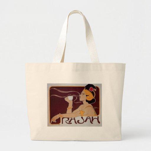 Rajah Coffee Tote Bags