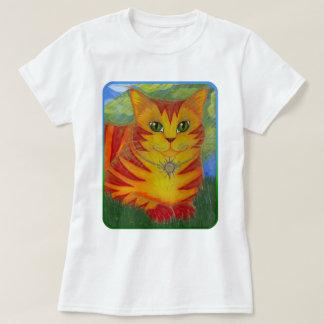Rajah Golden Gold Sun Cat Fantasy Art Shirt