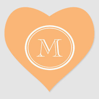 Rajah High End Colored Monogram Initial Heart Sticker