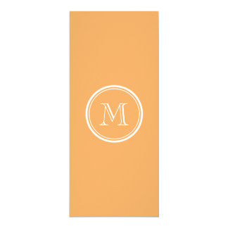 Rajah High End Colored Monogram Initial 10 Cm X 24 Cm Invitation Card