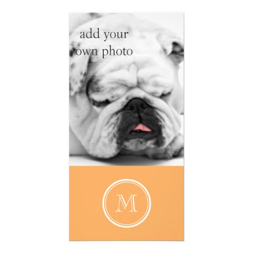Rajah High End Colored Monogram Initial Photo Card Template