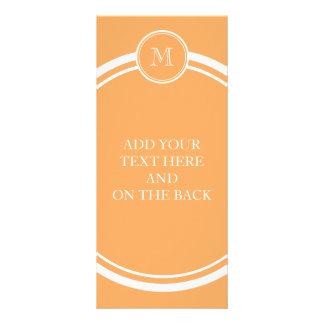 Rajah High End Colored Monogram Initial Personalized Rack Card