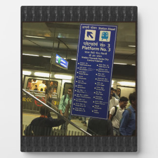 Rajiv Chowk New Delhi Metro Indian Railways Pride Display Plaques