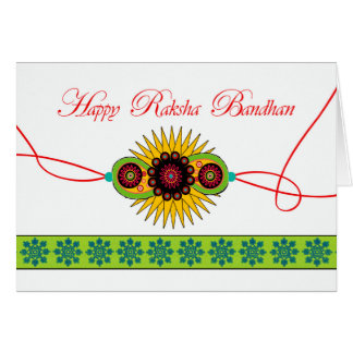 Raksha Bandhan, Rakhi Wristband Festival Card