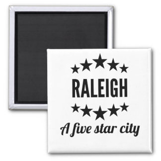 Raleigh A Five Star City Magnet