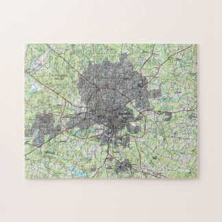 Raleigh North Carolina Map (1990) Jigsaw Puzzle
