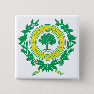 Raleigh, North Carolina Seal 15 Cm Square Badge