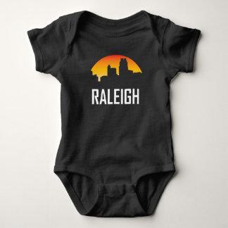 Raleigh North Carolina Sunset Skyline Baby Bodysuit