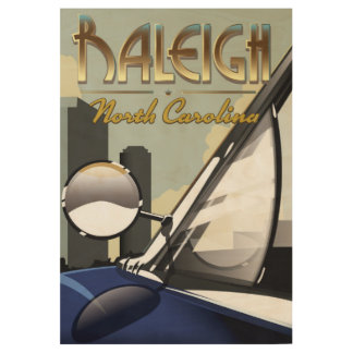 Raleigh North Carolina vintage automobile poster