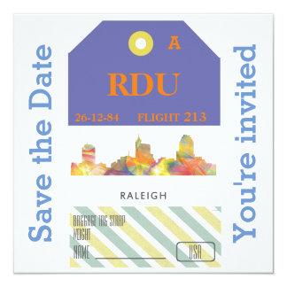 RALEIGH, NORTH CAROLINA WB1 - 13 CM X 13 CM SQUARE INVITATION CARD