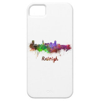 Raleigh skyline in watercolor iPhone 5 cover