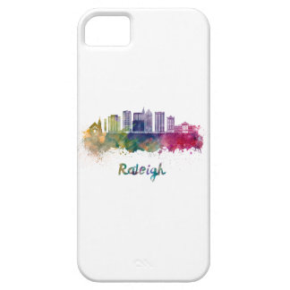 Raleigh V2 skyline in watercolor Barely There iPhone 5 Case