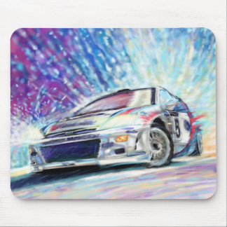 RALLEY CAR MOUSE PAD