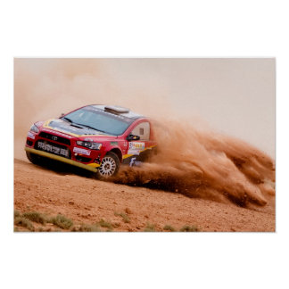 Rally China, Mitsubishi Evo Poster