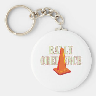 Rally Obedience Basic Round Button Key Ring