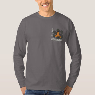Rally Obedience Paw Print Embroidered Long Sleeve T-Shirt