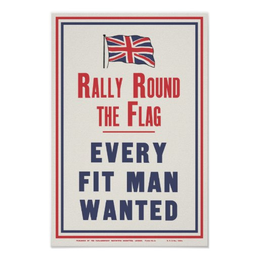 'RALLY ROUND' poster