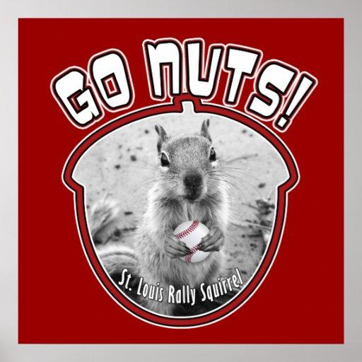 Rally Squirrel - Louis, Missouri Poster