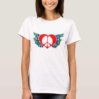 Rally to Restore Sanity Peace Wings T-Shirt