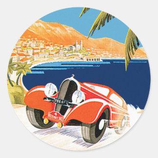 Rallye Automobile de Monte Carlo Classic Round Sticker