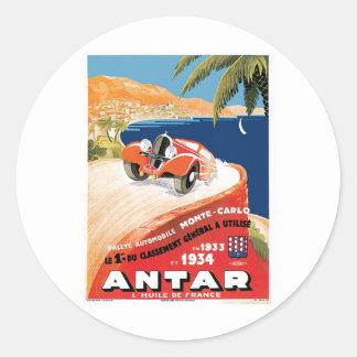 Rallye Automobile Monte Carlo Round Sticker