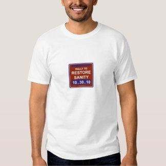rallytorestoresanitywhite t-shirts