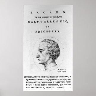 Ralph Allen, 1764 Poster