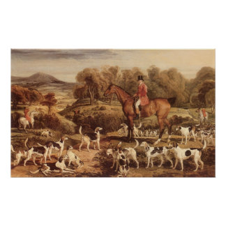 Ralph Lambton and his Hounds by James Ward Poster