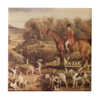 Ralph Lambton and his Hounds by James Ward Tile
