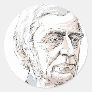 Ralph Waldo Emerson Classic Round Sticker