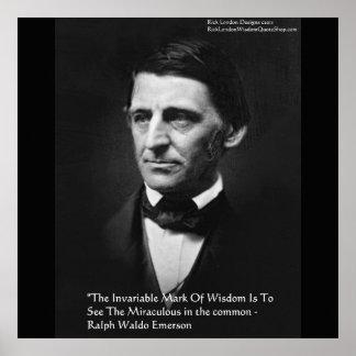 """Ralph Waldo Emerson """"Common Wisdom"""" Quote Posters"""
