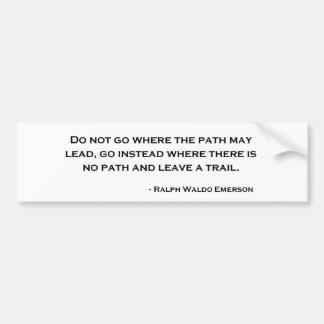 Ralph Waldo Emerson Innovation Quote Bumper Sticker