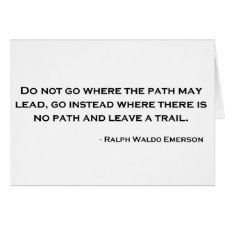 Ralph Waldo Emerson Innovation Quote Greeting Card