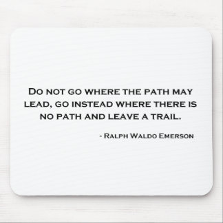 Ralph Waldo Emerson Innovation Quote Mouse Pads