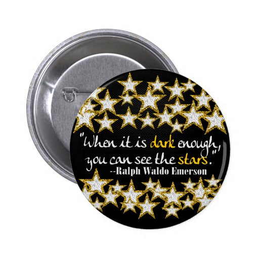 Ralph Waldo Emerson Inspirational Life Quotes Gift Buttons