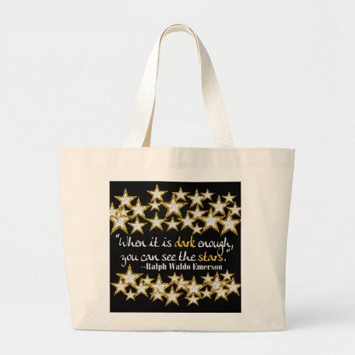 Ralph Waldo Emerson Inspirational Life Quotes Gift Tote Bag