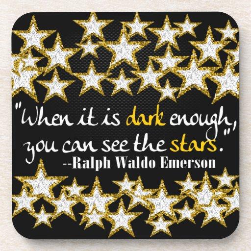 Ralph Waldo Emerson Inspirational Life Quotes Gift Coasters