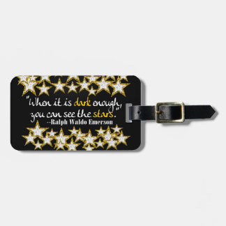 Ralph Waldo Emerson Inspirational Life Quotes Gift Luggage Tag